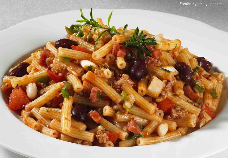 Babos szalonnás húsos tészta  -  Vomberg Frigyes mesterszakács receptje