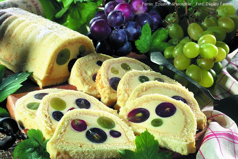 Borkrémes, szőlős szelet