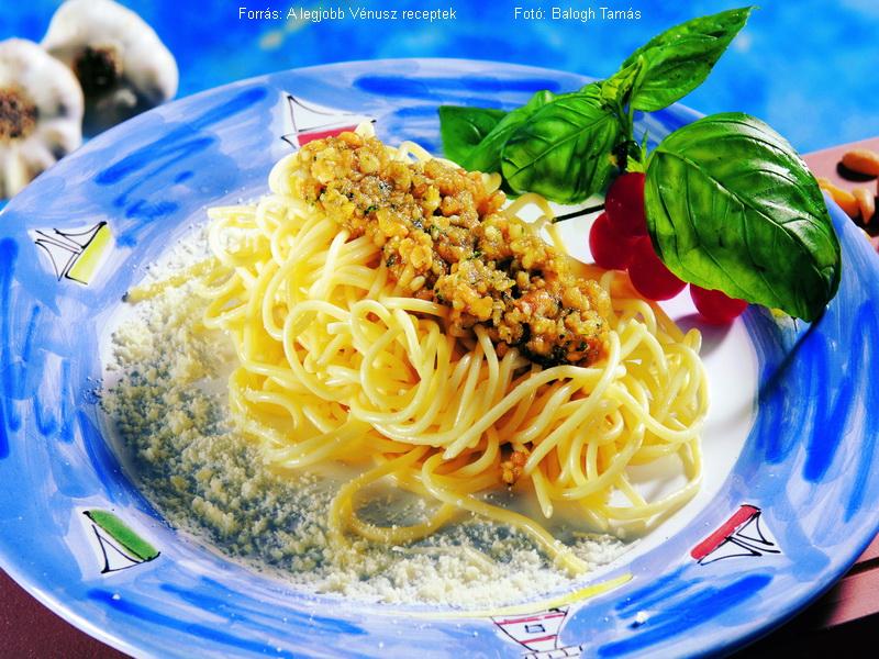 Pesztós spagetti