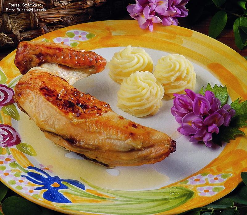 Mézes, citromos csirke