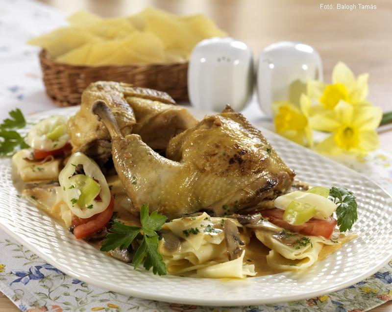 Göntéri csirke csuszatésztával