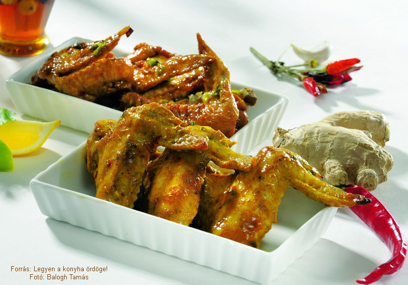 Gyömbéres, csilis és mézes, mustáros csirkeszárnyak