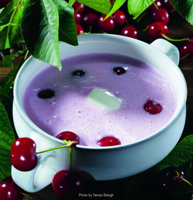 Cold Sour Cherry Soup  -  (Hideg meggyleves)