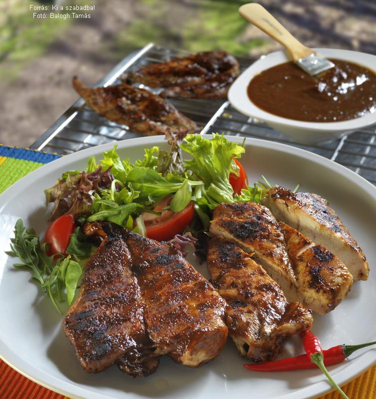 Johnny barbecue-csirkéje  -  készítette Csigó János mesterszakács