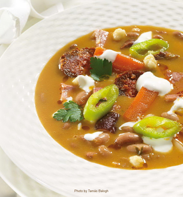 Bean Soup a la Jókai  -  (Jókai bableves)
