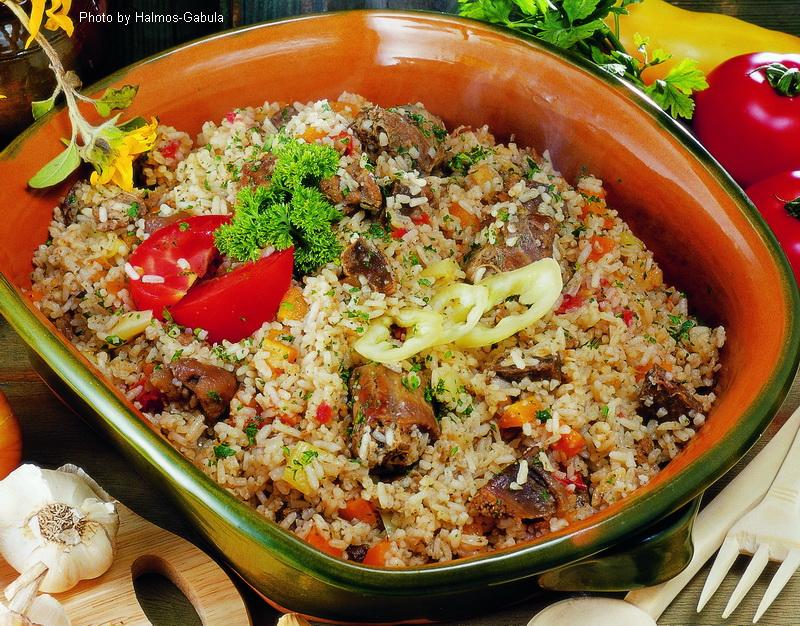 Boiled Millet with Goose Giblets  -  (Ludaskása)