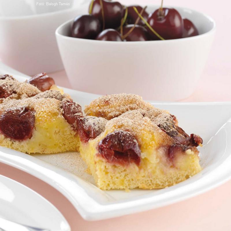 """Pudingos cseresznyés pite  -  """"Manócska"""" receptje"""