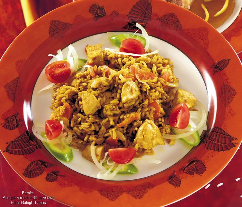 Thai rizses csirke