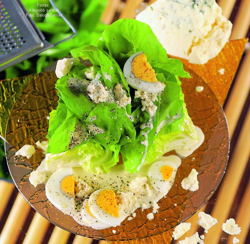 Kefires, márványsajtos fejes saláta