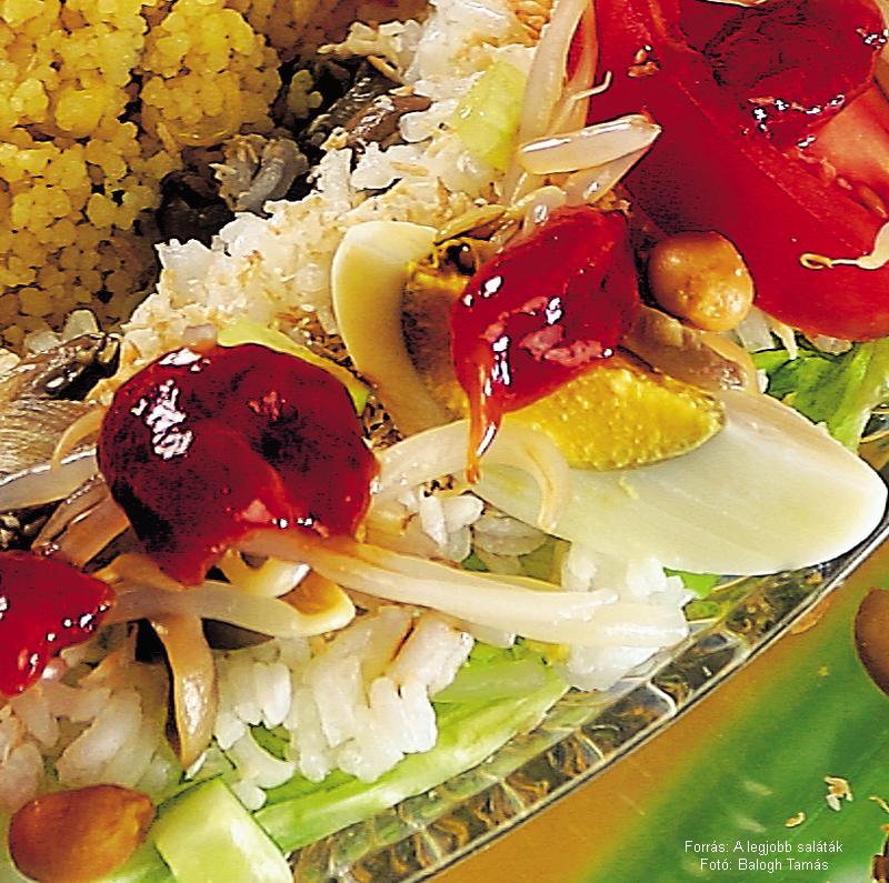 Indonéz rizssaláta