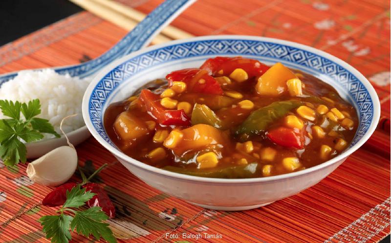 Kukorica kínaiasan (édes-savanyú mártásban)