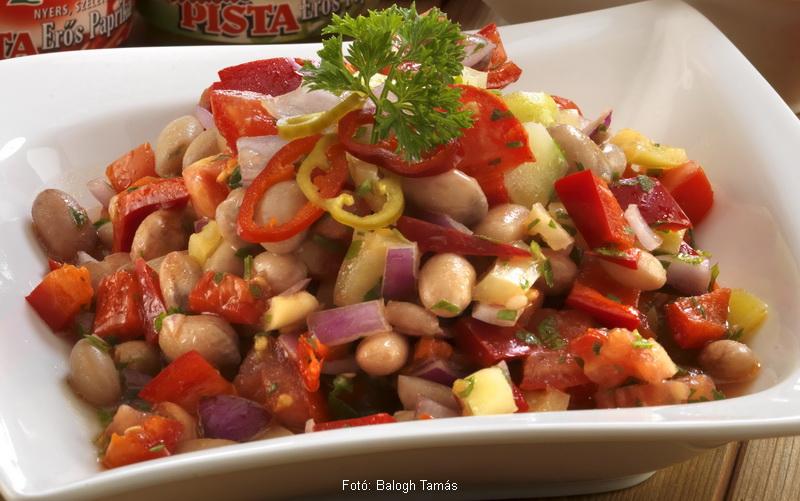Paradicsomos fejtettbab-saláta