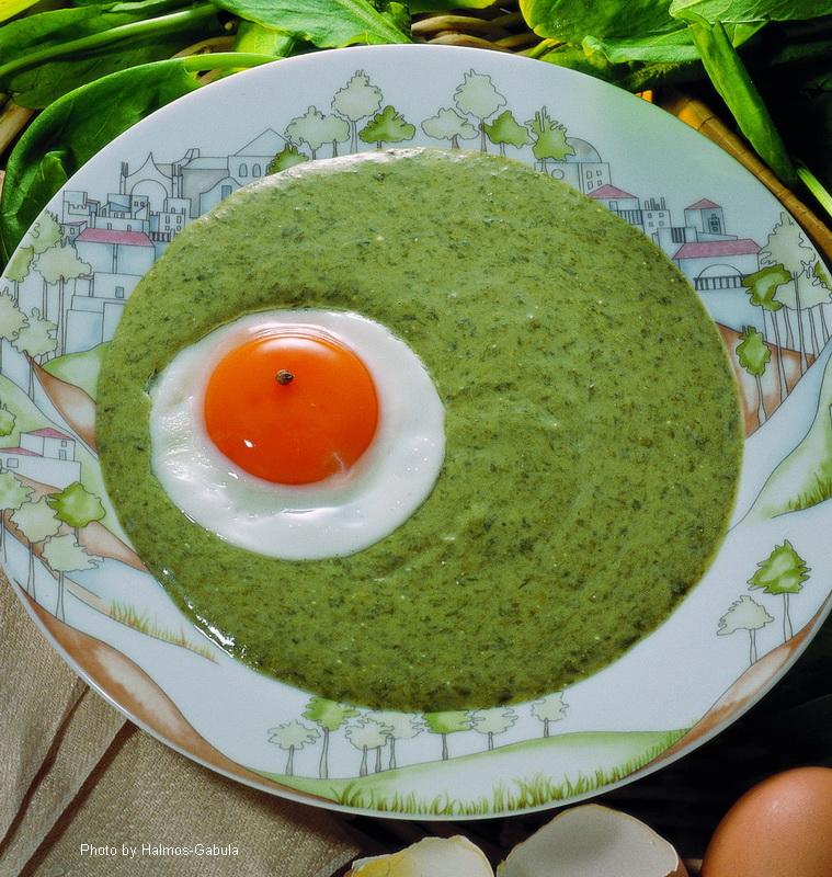 Sauerampfergemüse (Soße)  -  (Sóskafőzelék, -mártás)