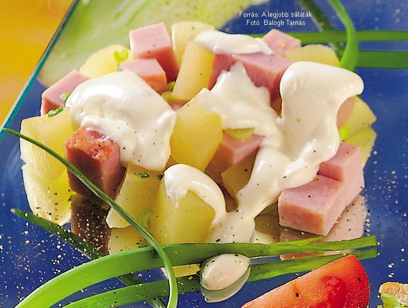Birsalmás füstöltpulyka-saláta