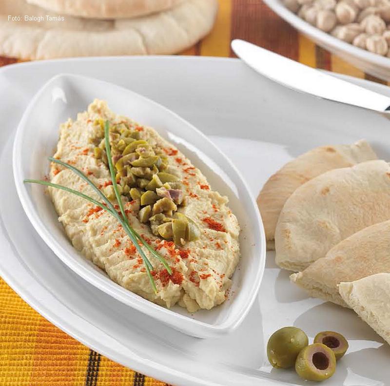 Humusz  (fűszeres csicseriborsókrém)  -  készítette Nemeskövi Dénes mesterszakács