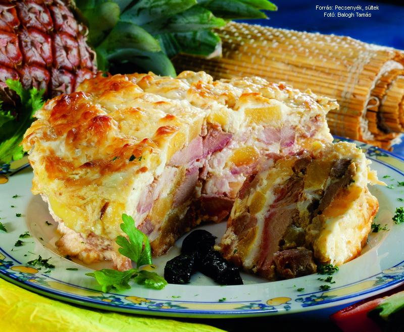 Ananászos rakott hús
