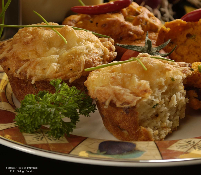 Burgonyás, sajtos muffin