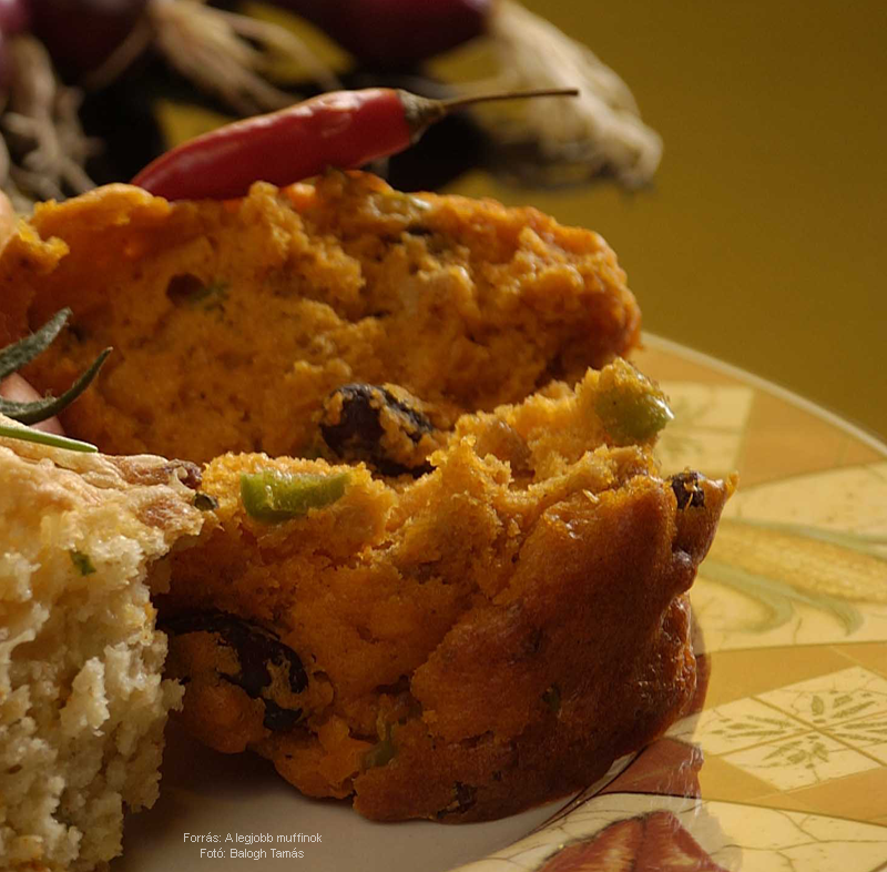 Csilis muffin