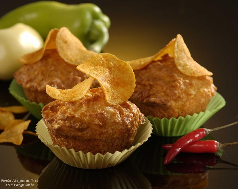 Csipszes muffin