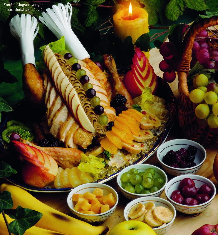 Csirketál gyümölcsökkel  -  készítette Piri István mesterszakács