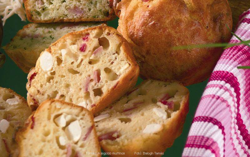 Fetás sonkás muffin