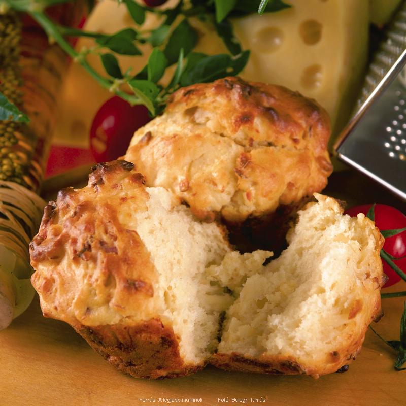 Füstölt sajtos muffin