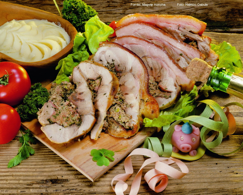 Fűszeres hússal töltött malaclapocka