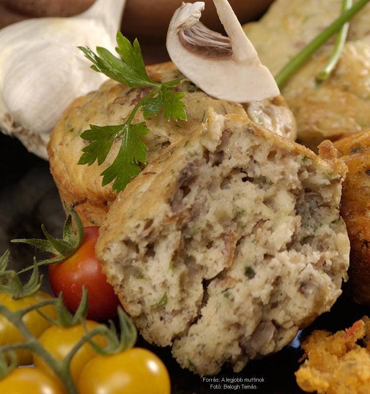 Gombás muffin