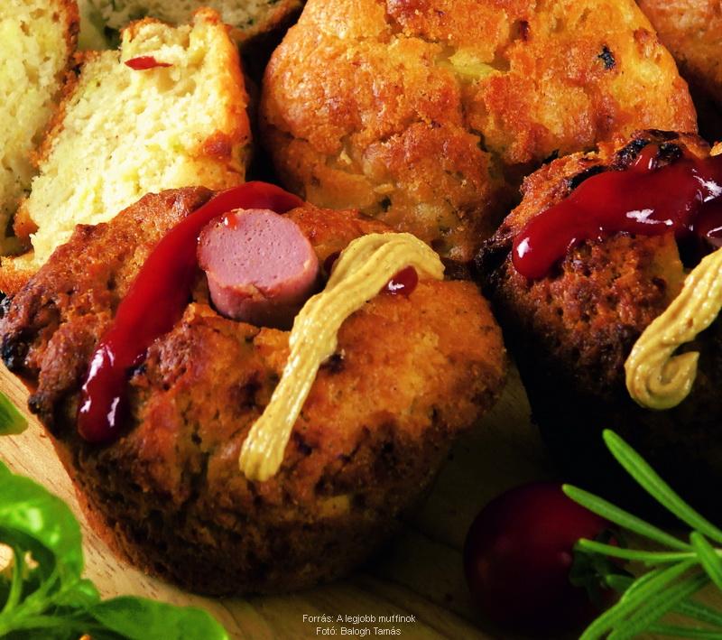 Hot dog muffin