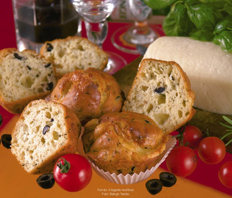 Juhsajtos, olajbogyós muffin