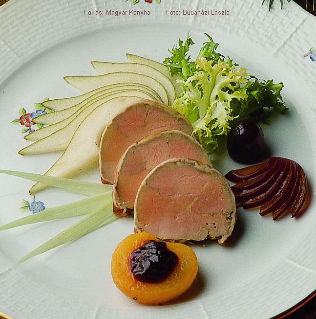 Kőtálban párolt libamájpástétom   -  készítette Novák Ferenc mesterszakács
