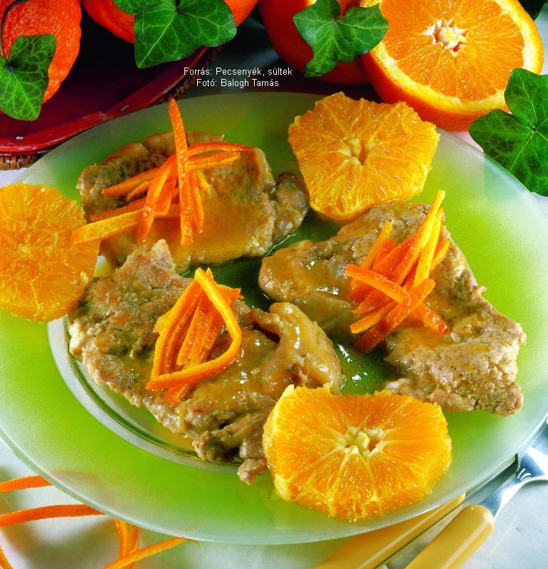 Narancsos sült borda