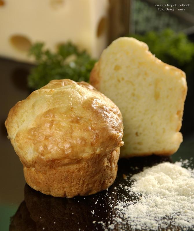 Parmezánsajtos muffin