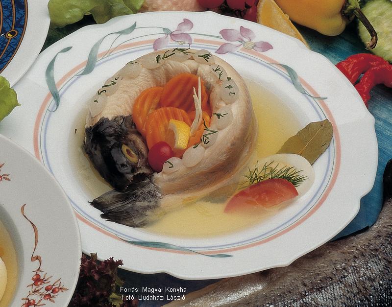 Pisztrángkocsonya  -  készítette Piri István mesterszakács