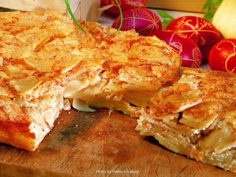 Nouilles au jambon  -  (Sonkás kocka)