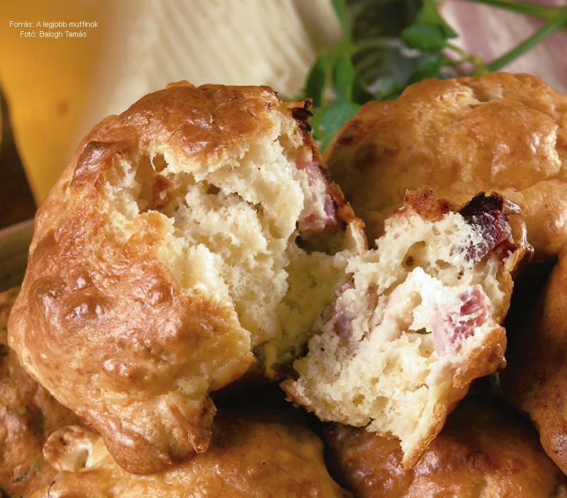 Szalonnás, savanyú káposztás muffin