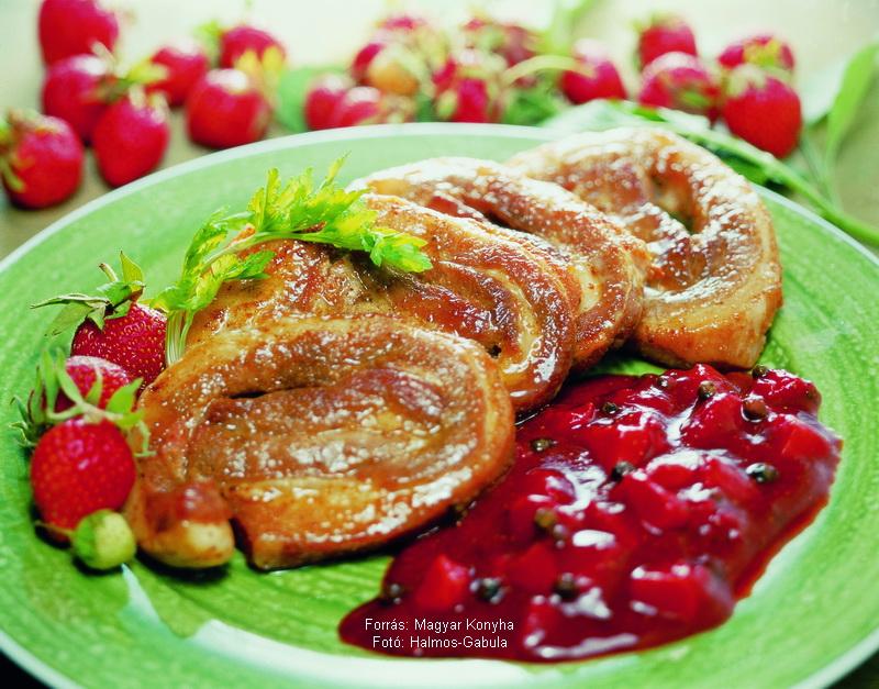 Tekercses hasaalja zöldborsos epermártással  -  készítette Halmos Mónika