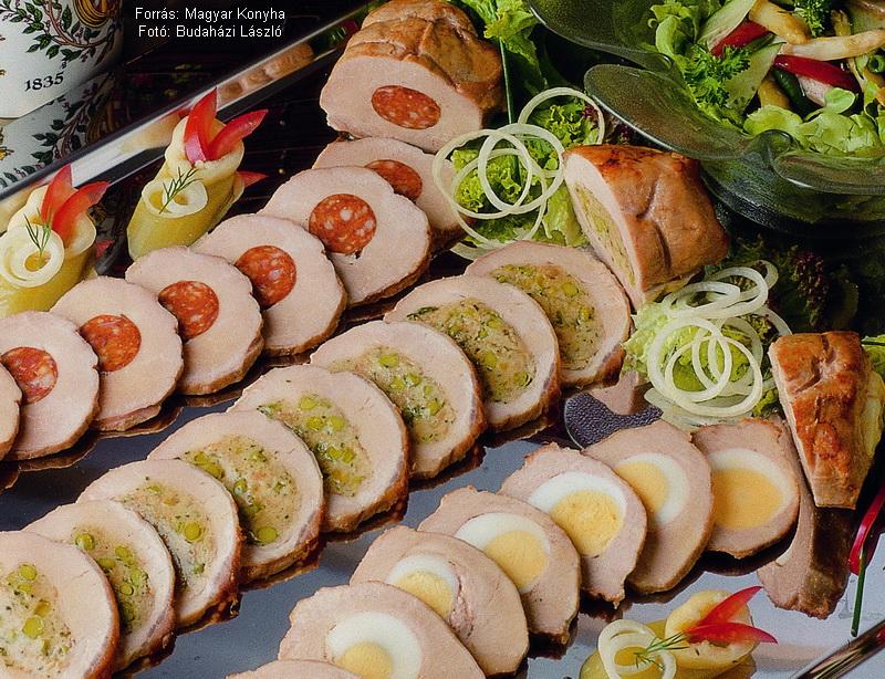 Töltöttkaraj-tál Gundel-salátával  -  készítette Piri István mesterszakács