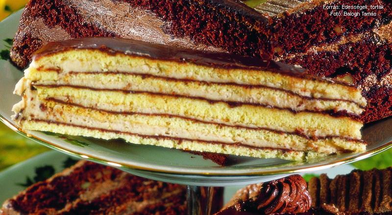 Csokoládés, gesztenyés torta