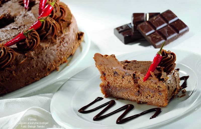 Chili Chocolate Cake - (Csilis csokoládétorta)