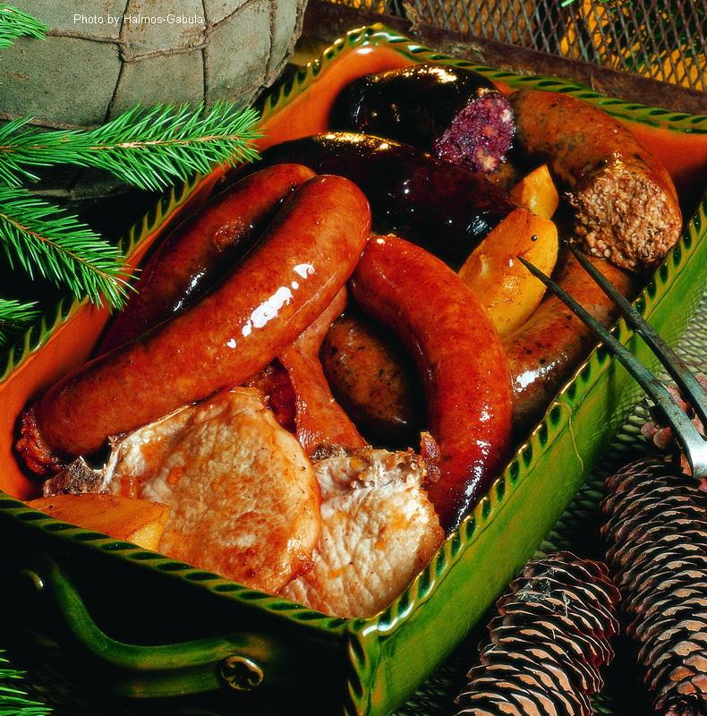 Boudins et saucisses à la hongroise  -  (Disznótoros)