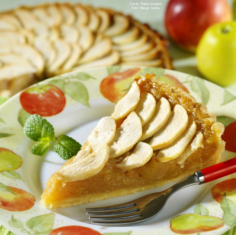 Duplán almás torta