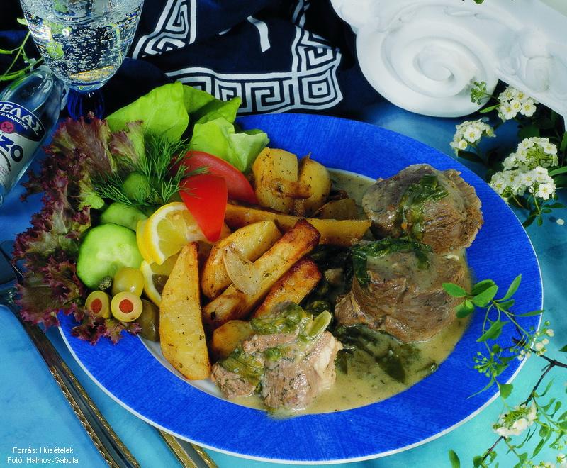 Görög (kapros) bárányragu tepsis burgonyával