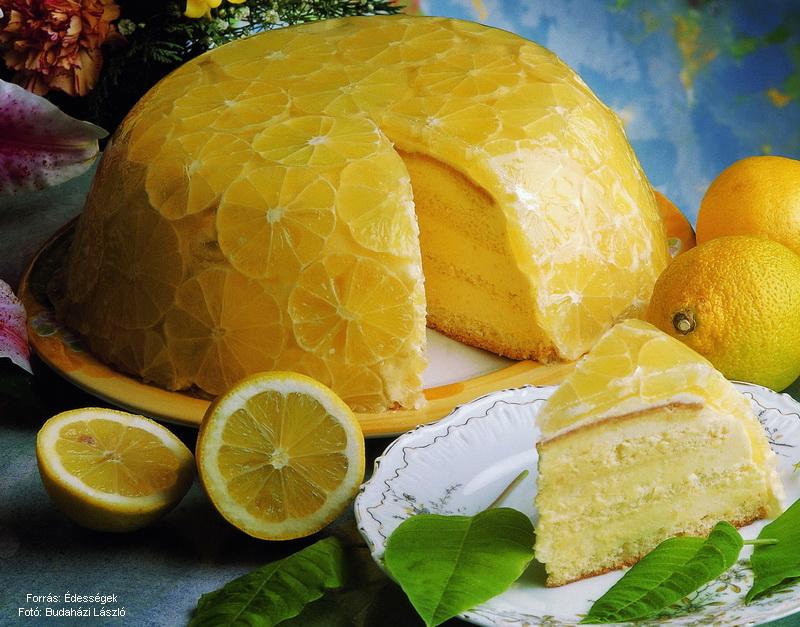 Mesteri citromtorta  -  készítette Czermann János mestercukrász