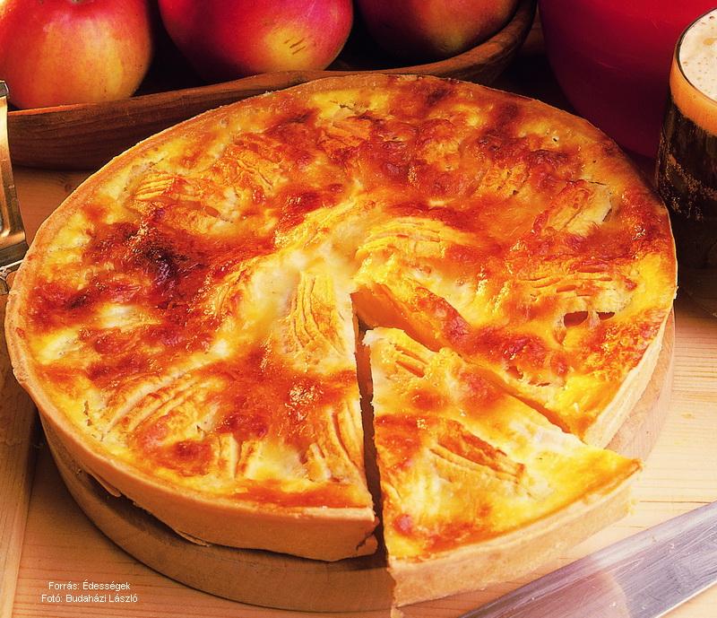 Sörös sajtos almatorta - készítette Czermann János mestercukrász