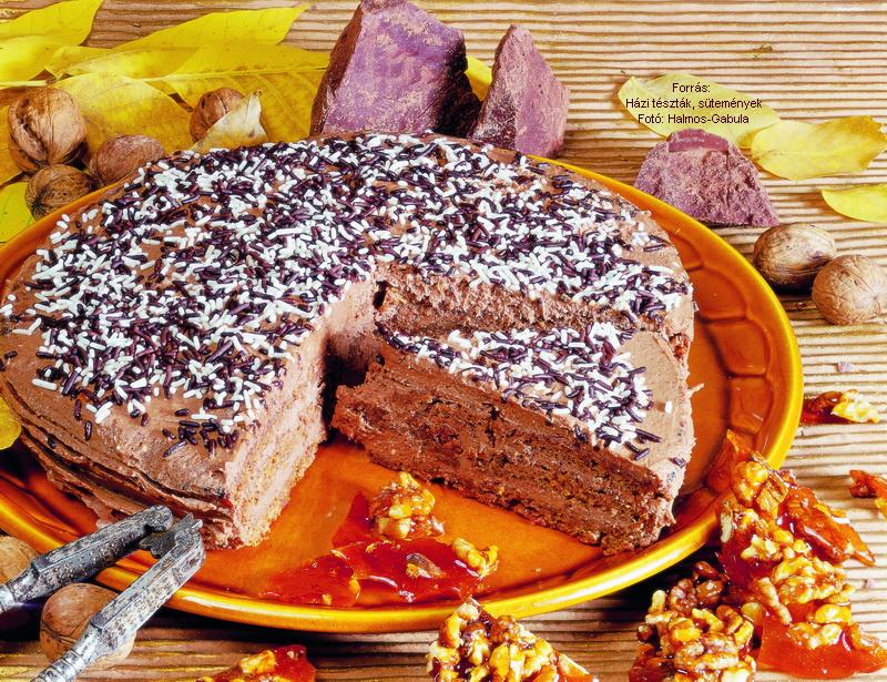 Szakácsmester grillázsos csokoládétortája