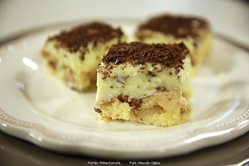 Almás, vaníliakrémes piskóta