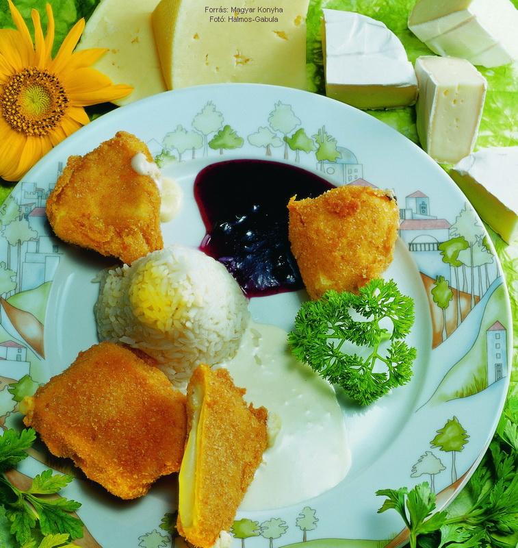 Rántott sajt és camembert