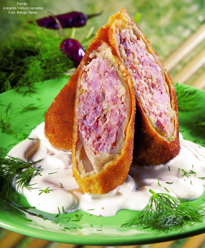 Breaded Stuffed Cabbage - (Rántott töltött káposzta