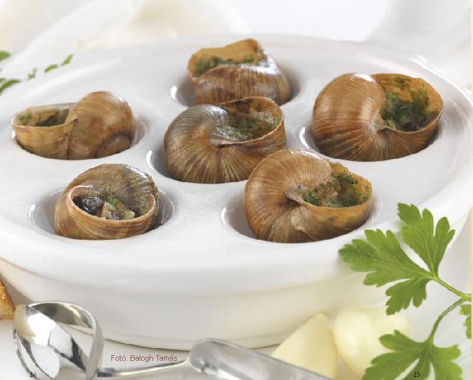 Burgundi csiga  -  készítette Nemeskövi Dénes mesterszakács